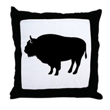 Bison buffalo Throw Pillow