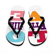 I Love Priscilla Flip Flops