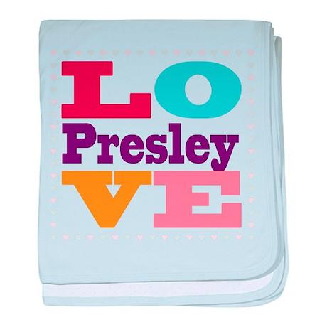 I Love Presley baby blanket