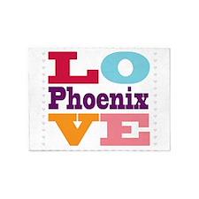 I Love Phoenix 5'x7'Area Rug