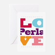 I Love Perla Greeting Card