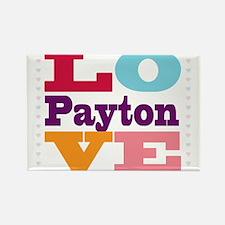 I Love Payton Rectangle Magnet