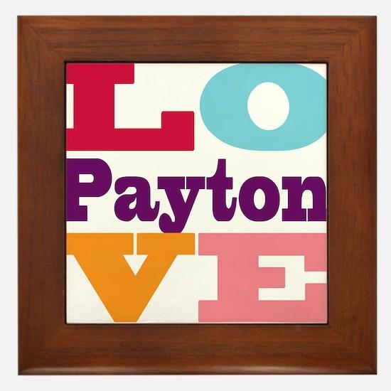 I Love Payton Framed Tile