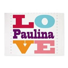 I Love Paulina 5'x7'Area Rug