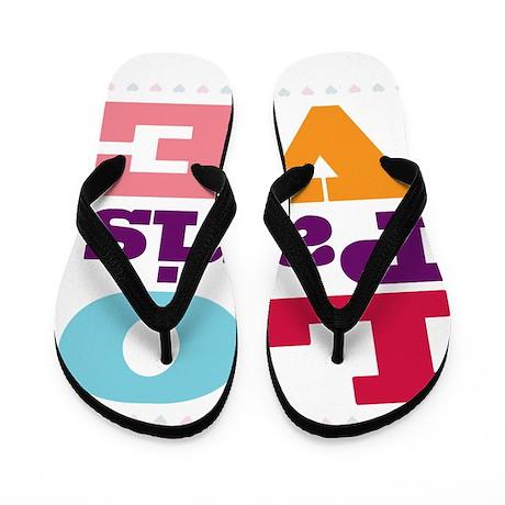 I Love Paris Flip Flops