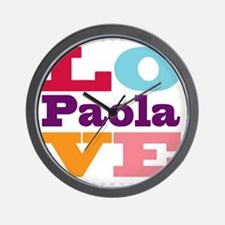 I Love Paola Wall Clock