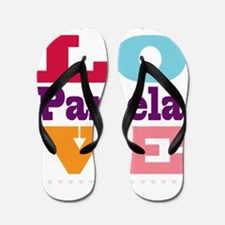I Love Pamela Flip Flops