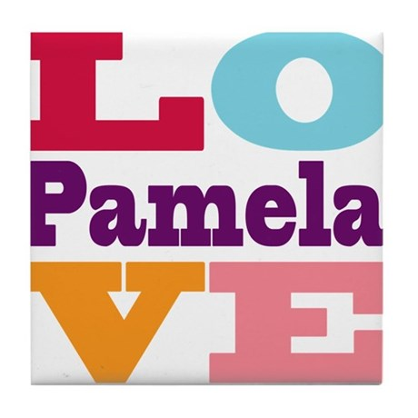 I Love Pamela Tile Coaster By Uniquegirlsnames49