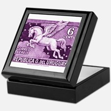 Antique 1930 Uruguay Pegasus Postage Stamp Keepsak