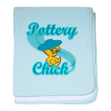 Pottery Chick #3 baby blanket