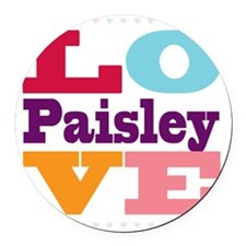 I Love Paisley Round Car Magnet