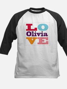 I Love Olivia Kids Baseball Jersey