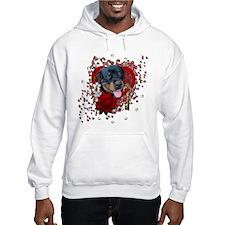 Valentines - Key to My Heart - Rottie Hoodie