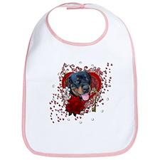Valentines - Key to My Heart - Rottie Bib
