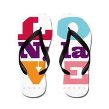 I Love Nyla Flip Flops