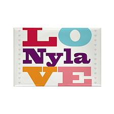 I Love Nyla Rectangle Magnet