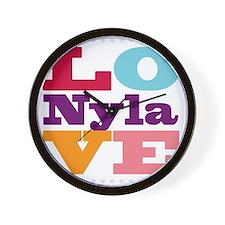 I Love Nyla Wall Clock
