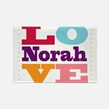 I Love Norah Rectangle Magnet