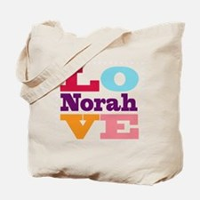 I Love Norah Tote Bag