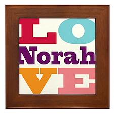 I Love Norah Framed Tile