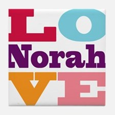 I Love Norah Tile Coaster