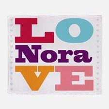 I Love Nora Throw Blanket