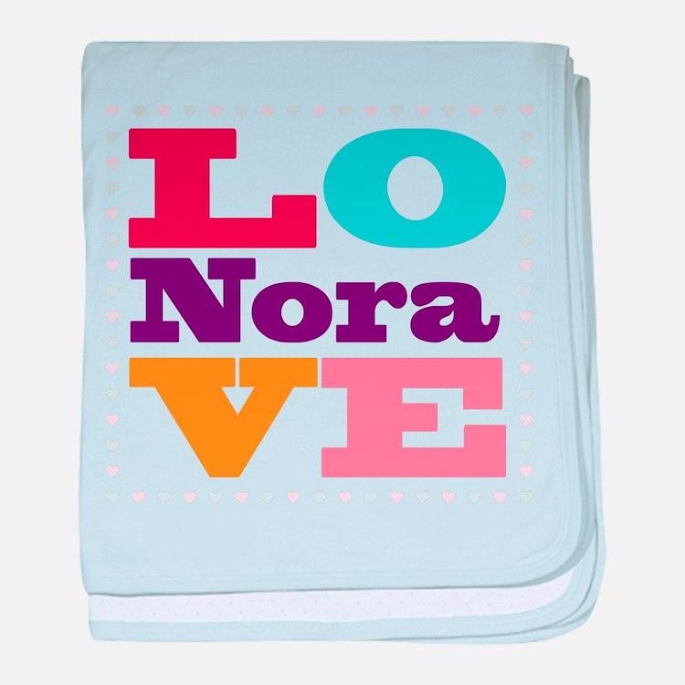 I Love Nora baby blanket