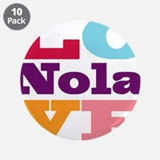 "I Love Nola 3.5"" Button (10 pack)"