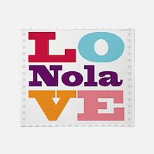 I Love Nola Throw Blanket
