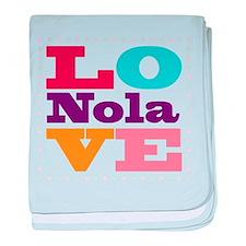 I Love Nola baby blanket