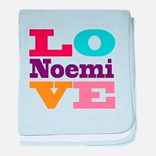 I Love Noemi baby blanket