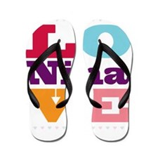 I Love Nina Flip Flops