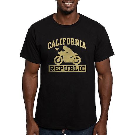 California Cafe Racer Men's Fitted T-Shirt (dark)