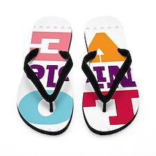 I Love Nicole Flip Flops