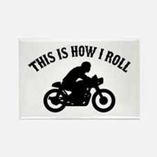 This Is How I Roll Cafe Racer Rectangle Magnet