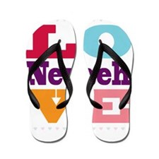 I Love Nevaeh Flip Flops