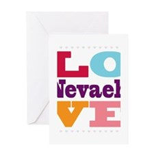 I Love Nevaeh Greeting Card