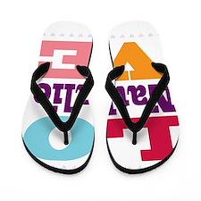 I Love Nathalie Flip Flops