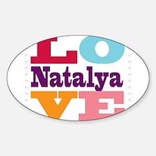 I Love Natalya Sticker (Oval)