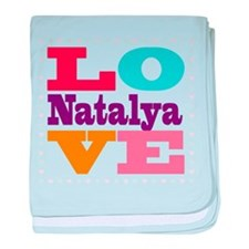 I Love Natalya baby blanket