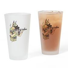 American Sheepdog Drinking Glass