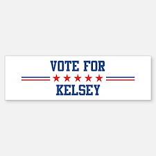 Vote for KELSEY Bumper Car Car Sticker