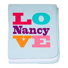 I Love Nancy baby blanket