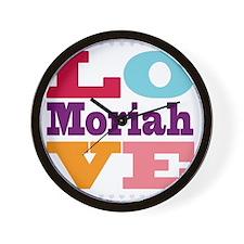 I Love Moriah Wall Clock