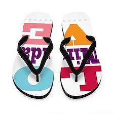 I Love Miranda Flip Flops