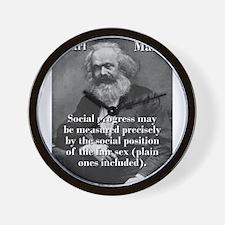 Social Progress May Be Measured - Karl Marx Wall C