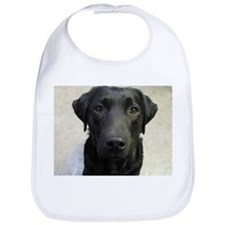 Cute Black labrador Bib