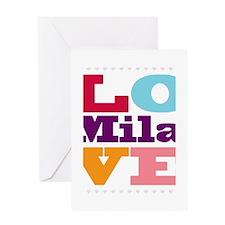 I Love Mila Greeting Card