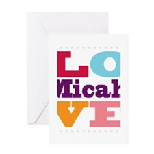 I Love Micah Greeting Card
