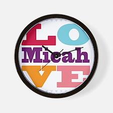 I Love Micah Wall Clock
